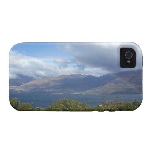 Arco iris sobre el lago Wanaka, Nueva Zelanda iPhone 4/4S Funda