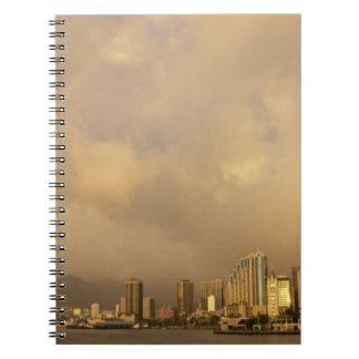 Arco iris sobre Honolulu, Hawaii, los E.E.U.U. 3 Libros De Apuntes