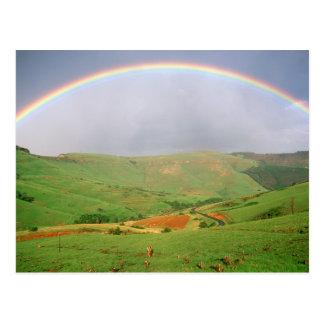 Arco iris sobre las colinas, Eastern Cape, Postal