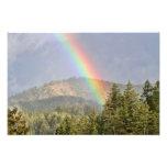 Arco iris sobre las montañas arte fotográfico