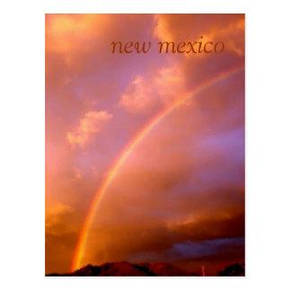 arco iris sobre las montañas del ortiz postal