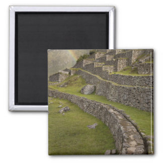 Arco iris sobre las terrazas agrícolas, Machu Imán Cuadrado
