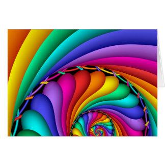 Arco iris Stitchery Tarjeta De Felicitación