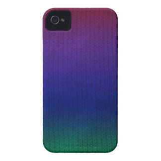 Arco iris Stockinette Case-Mate iPhone 4 Protectores
