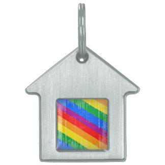 Arco iris Stripes.png del vintage Placas Mascota