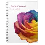 Arco iris subió casando el cuaderno