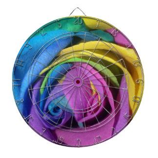Arco iris subió tablero de dardos