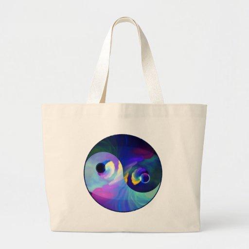 Arco iris Taijitu Yin Yang Bolsa De Mano