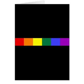 Arco iris tarjeta de felicitación