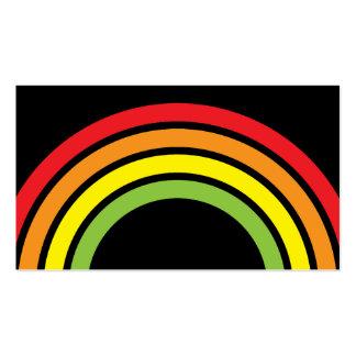 arco iris plantillas de tarjetas personales