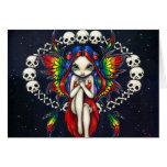 """""""Arco iris tarjeta de felicitación de los huesos"""""""