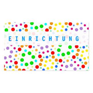 Arco iris tarjeta de presentación tarjeta de negocio
