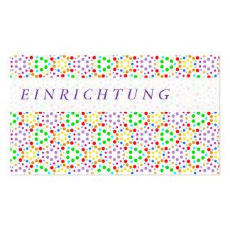 Arco iris tarjeta de presentación tarjetas de negocios