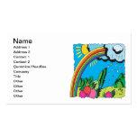 Arco iris tarjetas de visita