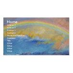 Arco iris tarjetas personales