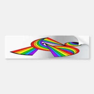 Arco iris # tatuaje 2 pegatina de parachoque