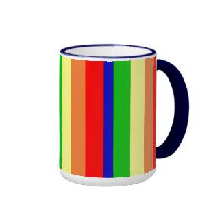 Arco iris taza de dos colores