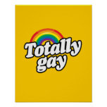 ARCO IRIS TOTALMENTE GAY - .PNG POSTER