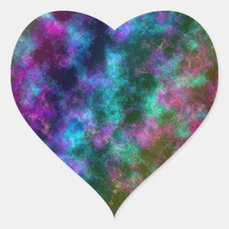 Arco iris transparente: Efecto de Flourite Pegatina De Corazón Personalizadas
