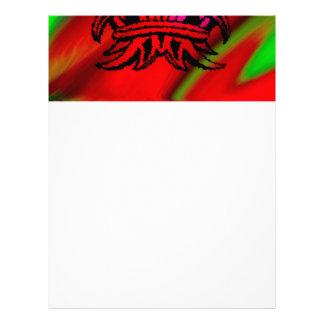 Arco iris tribal vicioso 003 del negro de la membrete personalizado