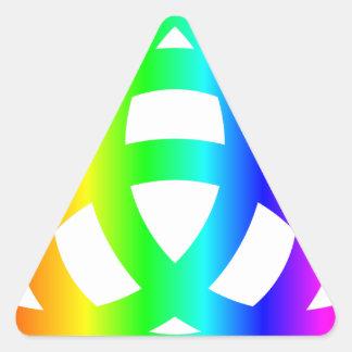 Arco iris Triquetra Pegatina Triangular