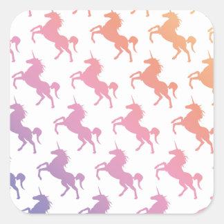 Arco iris Unicorns.pdf Pegatina Cuadrada