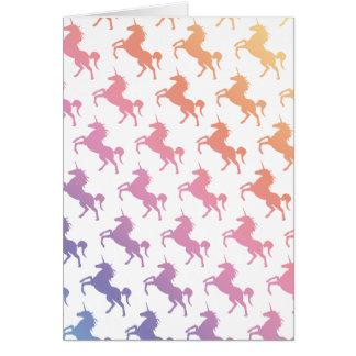 Arco iris Unicorns.pdf Tarjeta De Felicitación