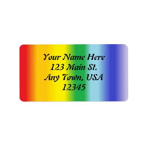 Arco iris v1 etiqueta de dirección