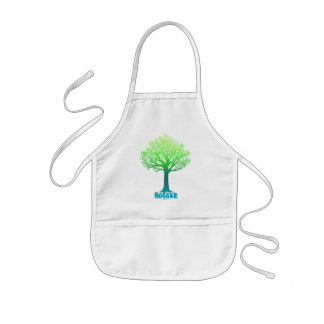 Arco iris verde de Hugger del árbol Delantal Infantil