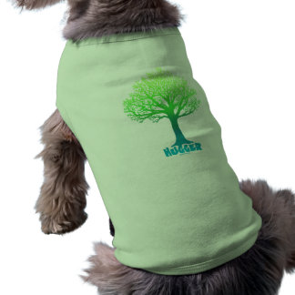 Arco iris verde de Hugger del árbol Camiseta De Perro