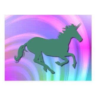Arco iris verde del pastel de Color_Abstract del Postal