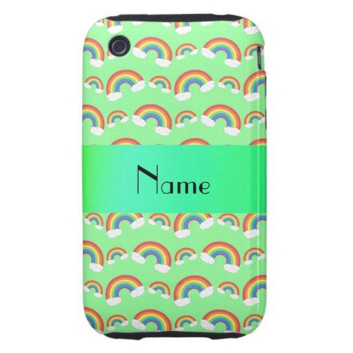 Arco iris verdes en colores pastel conocidos perso tough iPhone 3 cárcasa