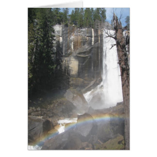 Arco iris vernal de las caídas - Yosemite Felicitacion