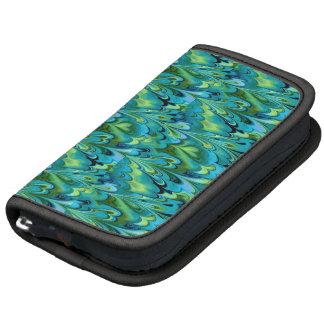 Arco iris veteados azules y verdes organizador