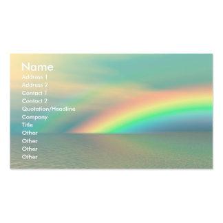 Arco iris y agua tarjetas de visita