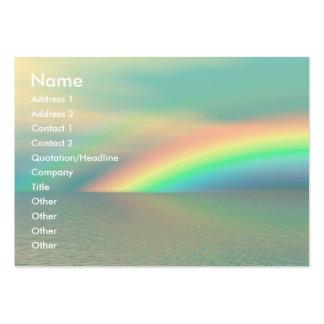 Arco iris y agua tarjetas de visita grandes