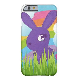 Arco iris y conejitos funda de iPhone 6 barely there