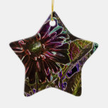Arco iris y dalia negra adorno de navidad