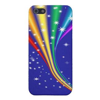 Arco iris y estrellas iPhone 5 funda