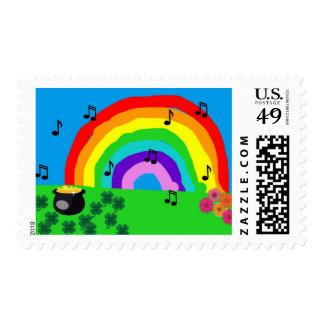Arco iris y mina de oro sellos postales