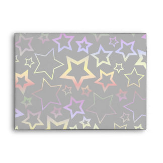 Arco iris y modelo de estrellas negro sobres