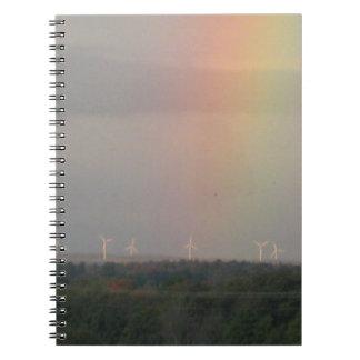 Arco iris y molinoes de viento cuadernos