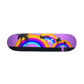 Arco iris y monopatín de las mariposas patinetas personalizadas