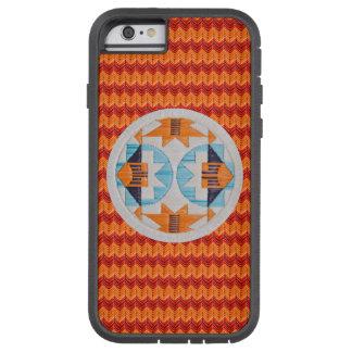 Arco iris y naranja dobles Chevron Funda De iPhone 6 Tough Xtreme
