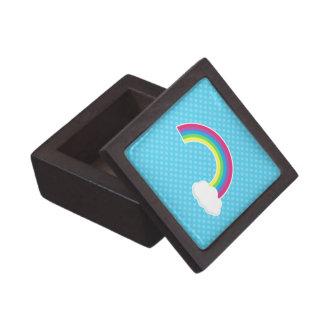 Arco iris y nube caja de regalo de calidad
