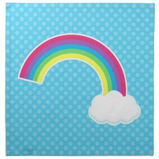 Arco iris y nube servilletas de papel