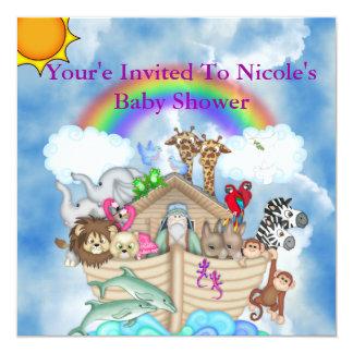 Arco iris y nubes de la invitación de la fiesta de