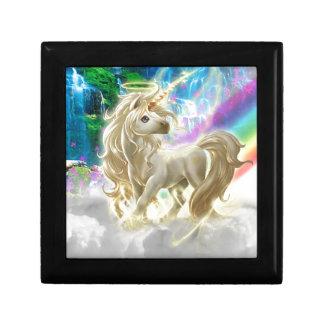 Arco iris y unicornio caja de joyas