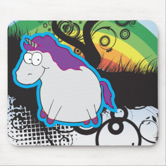 Arco iris y unicornio Mousepad Alfombrilla De Ratón
