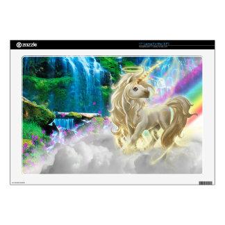 Arco iris y unicornio portátil 43,2cm skin